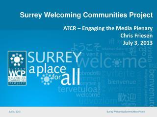Surrey Welcoming Communities Project