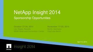 NetApp Insight 2014