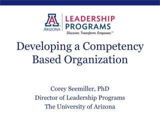 Developing a Competency Based Organization