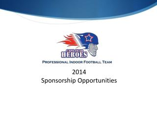 2014 Sponsorship Opportunities
