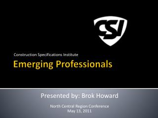 Emerging Professionals