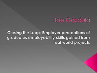 Joe Gazdula