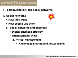 IT, communication, and social networks