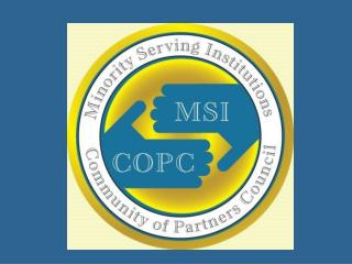 Minority Serving Institutions Community of Partners Council