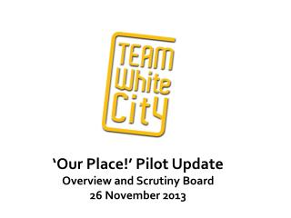 'Our Place!' Pilot Update Overview and Scrutiny Board 26 November  2013