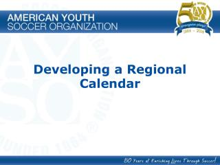 Developing a Regional Calendar