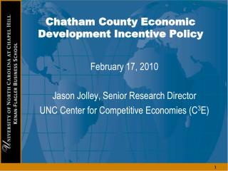 Chatham County Economic Development Incentive Policy
