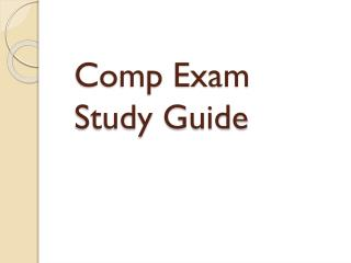 Comp Exam Study Guide