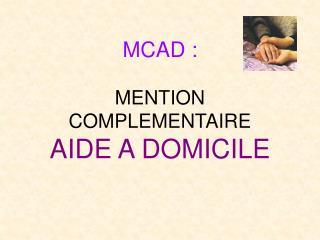 mcad : menti