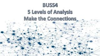 BUSS4 5 Levels of Analysis Make the Connections