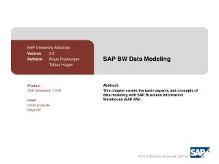 SAP BW Data Modeling