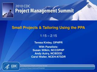 Small Projects & Tailoring Using the PPA