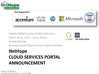 NetHope CLOUD  services Portal announcement