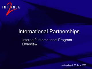 Internet2 International Overview