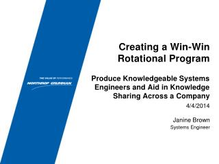Creating a Win-Win Rotational Program