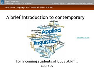 A brief introduction to contemporary