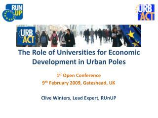 The Role of Universities for Economic Development in Urban Poles