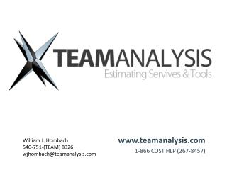 www.teamanalysis.com 1-866  COST HLP (267-8457)