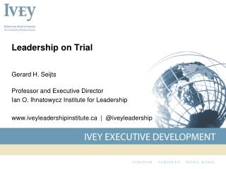 Leadership on Trial