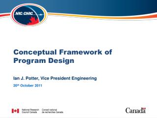 Conceptual Framework of Program Design