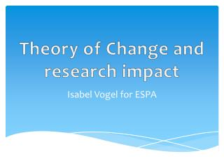Theory of Change and research impact