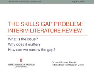 The Skills Gap Problem: Interim Literature Review