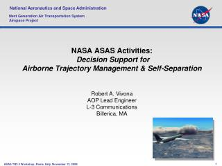 nasa asas activities: decision support for airborne trajectory ...