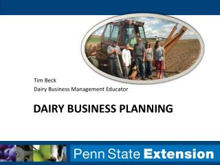 Dairy business planning