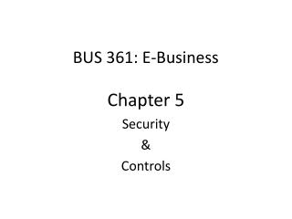 BUS 361: E-Business