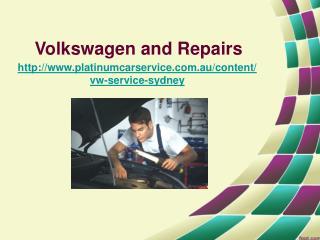 volkswagen and repairs