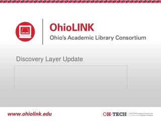 Discovery Layer Update