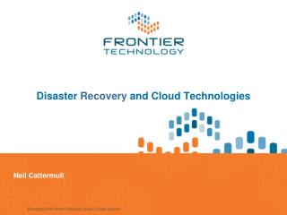 Disaster  Recovery  and Cloud Technologies