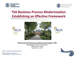 TSA Business Process Modernization Establishing an Effective Framework defining excellence in government