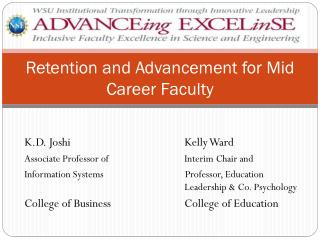 Retention and Advancement for Mid Career Faculty