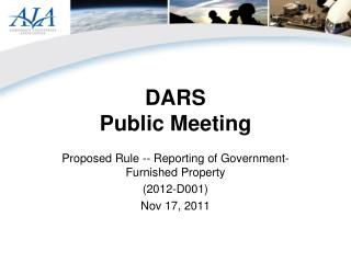 DARS Public Meeting