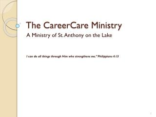 The CareerCare Ministry