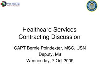 Healthcare Services Contracting Discussion