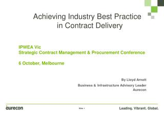 Achieving Industry Best Practice in Contract Delivery