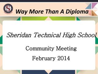 Sheridan Technical High School Community Meeting February 2014