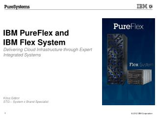 IBM  PureFlex and  IBM  Flex System Delivering Cloud Infrastructure through Expert Integrated Systems Kósa Gábor STG –