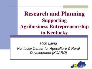research and planning supporting agribusiness entrepreneurship in kentucky