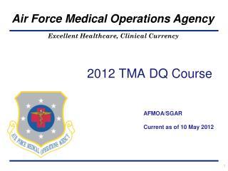 2012 TMA DQ Course