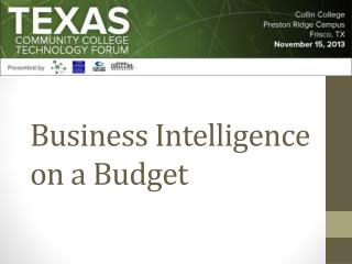 Business Intelligence on a Budget