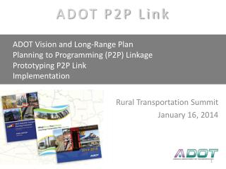 AASHTO SCOP Linking Planning to Programming P2P Link