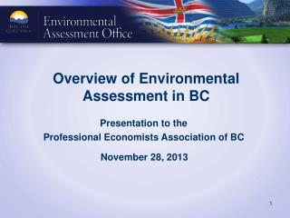 Overview of Environmental Assessment in BC