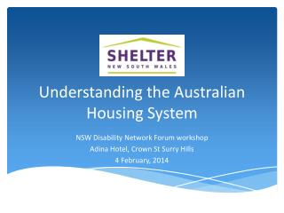 Understanding the Australian Housing System