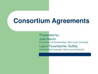 consortium agreements
