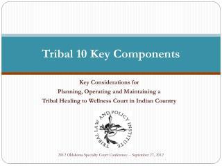 Tribal 10 Key Components