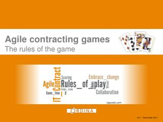 Agile contracting  games The rules of the game