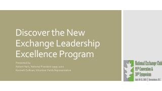 Discover the New Exchange Leadership Excellence Program